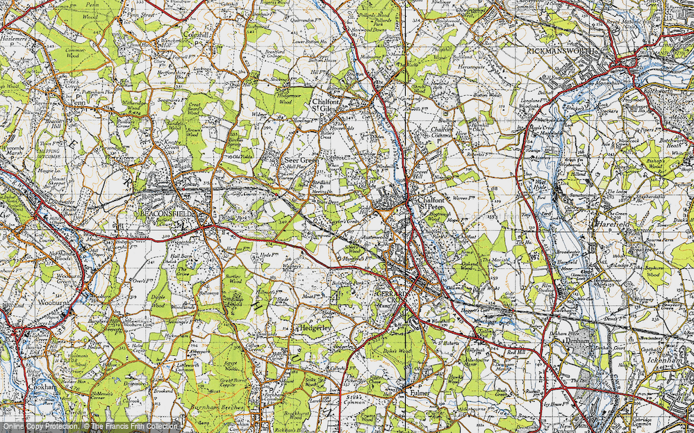 Old Map of Layters Green, 1945 in 1945