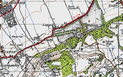 Old map of Lazenby in 1947