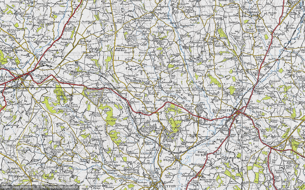 Old Map of Historic Map covering Bakers Mead in 1946