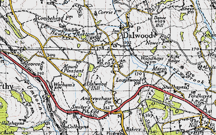 Old map of Lea in 1946