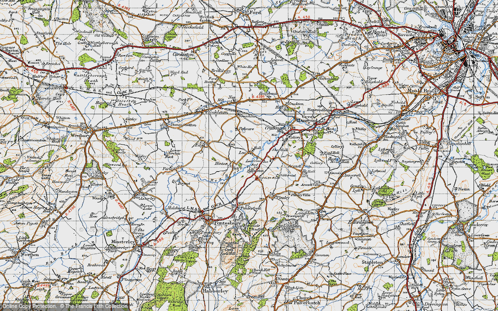 Old Map of Lea, 1947 in 1947