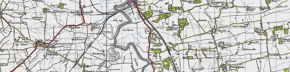 Old map of Lea in 1947