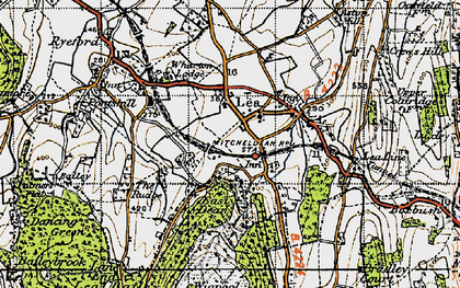 Old map of Adam's Cot in 1947