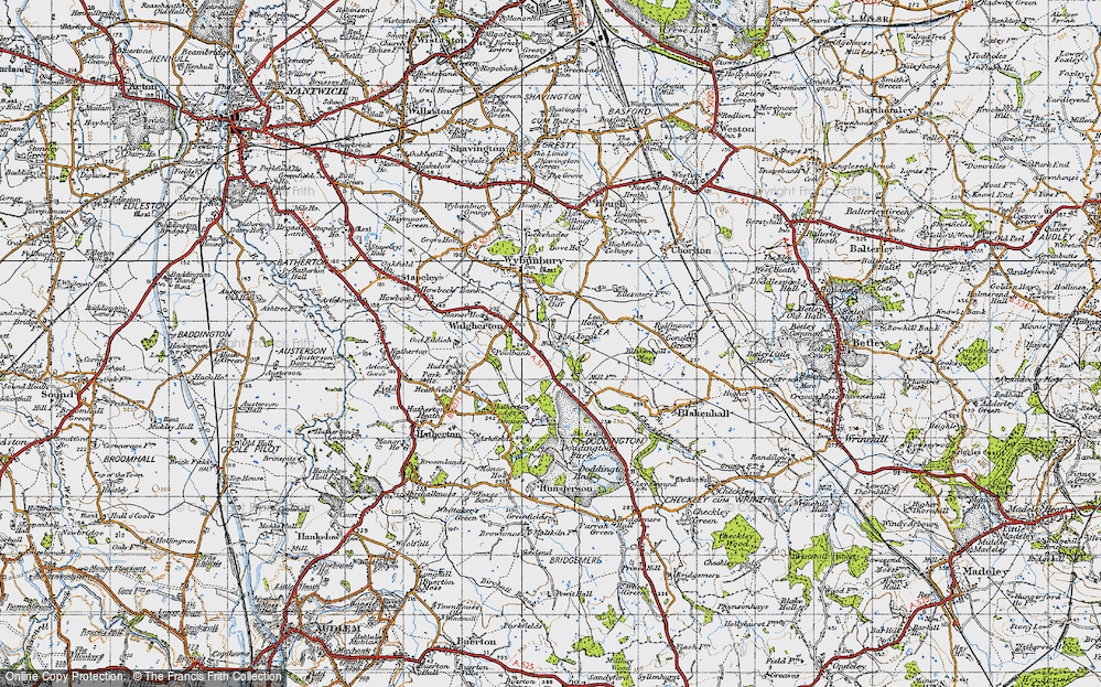 Old Map of Lea Forge, 1946 in 1946