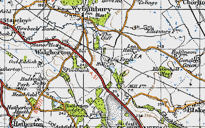 Old map of Lea Forge in 1946