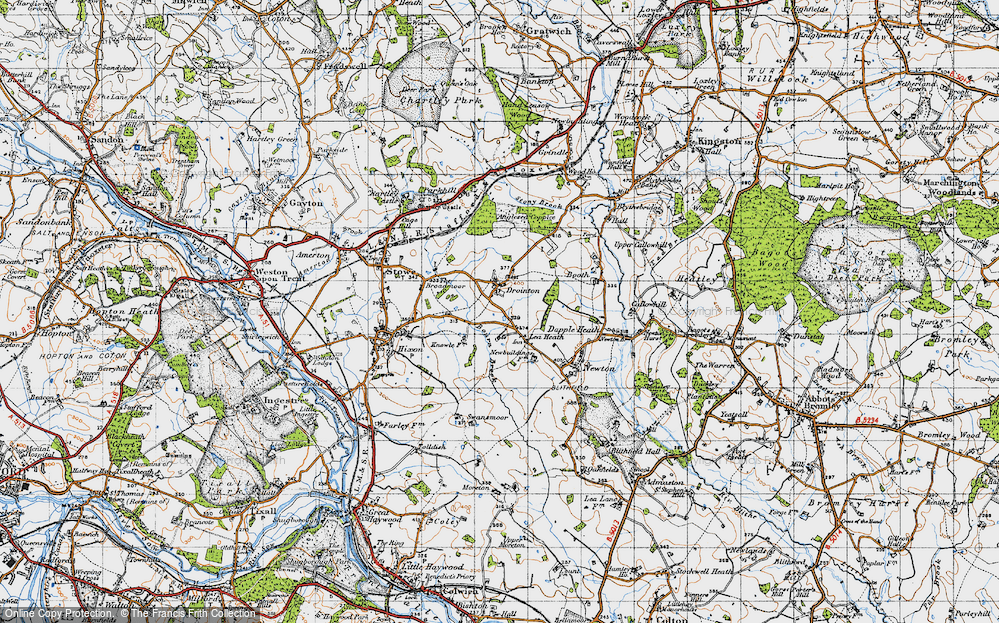 Old Map of Lea Heath, 1946 in 1946