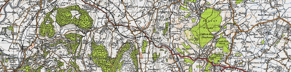 Old map of Lea Line in 1947