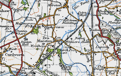 Old map of Lea Marston in 1946