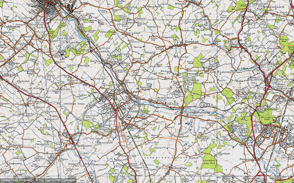 Old Map of Lea Valley, 1946 in 1946