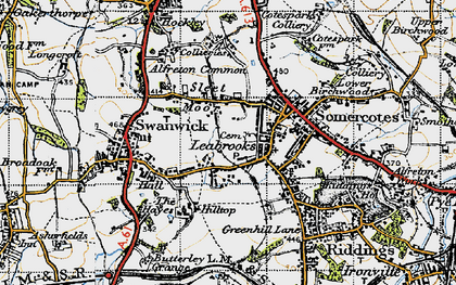 Old map of Leabrooks in 1946