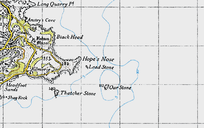 Old map of Lead Stone in 1946