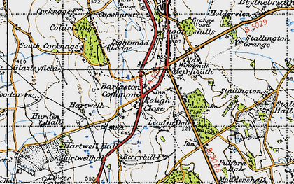 Old map of Leadendale in 1946