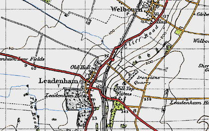 Old map of Leadenham in 1946