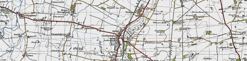 Old map of Leadenham in 1946