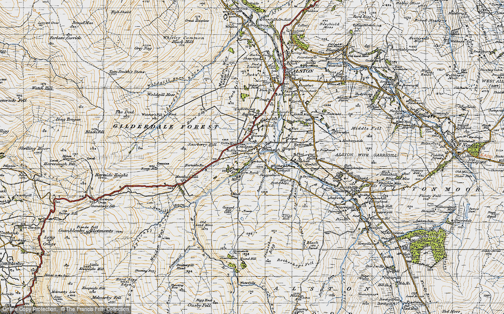 Old Map of Leadgate, 1947 in 1947