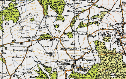 Old map of Leadgate in 1947