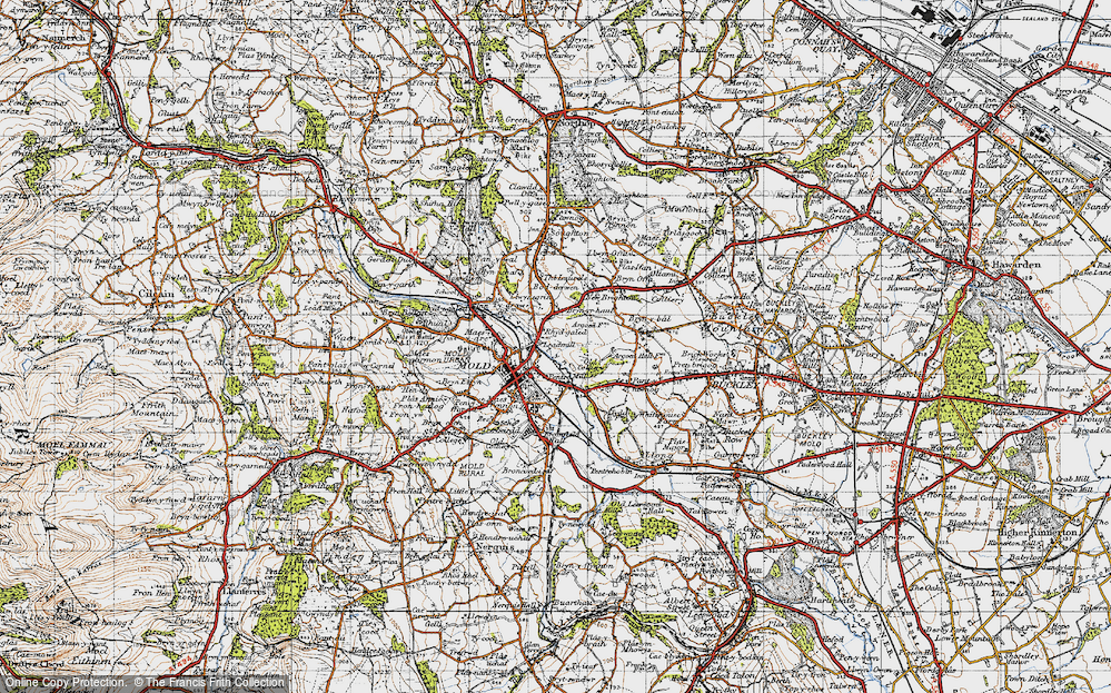 Old Map of Leadmill, 1947 in 1947