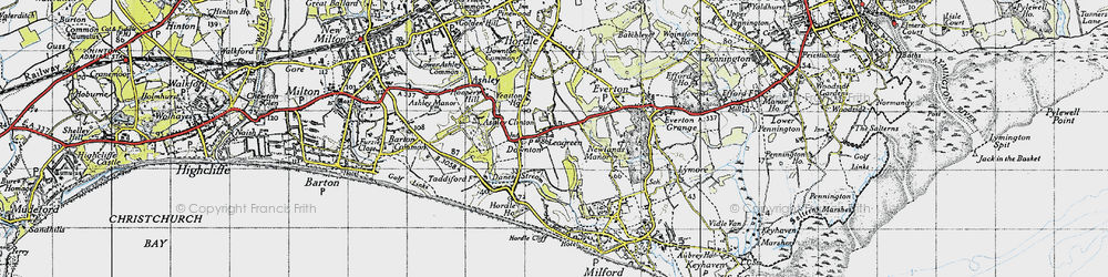 Old map of Yeatton Ho in 1940