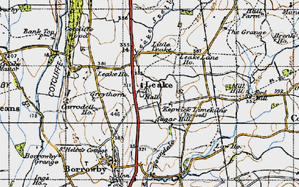 Old map of Leake in 1947