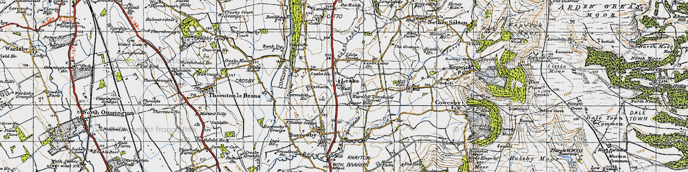 Old map of Leake Stell in 1947