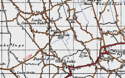Old map of Leake Fold Hill in 1946