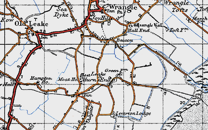 Old map of Leake Hurn's End in 1946