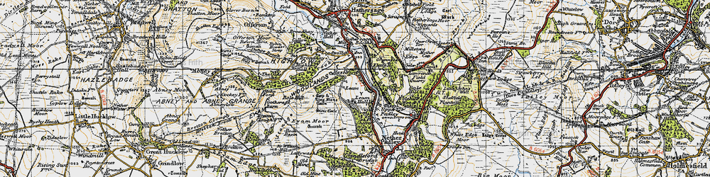 Old map of Leam in 1947