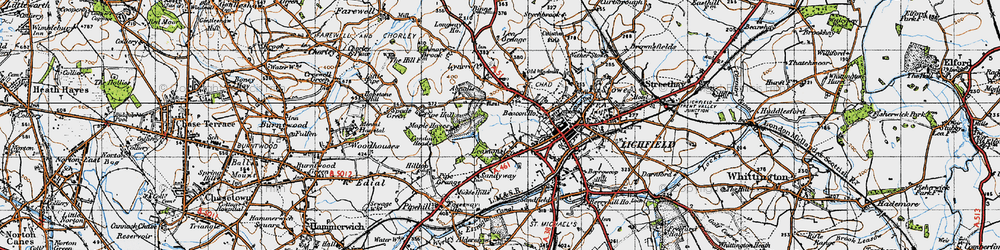 Old map of Abnalls, The in 1946