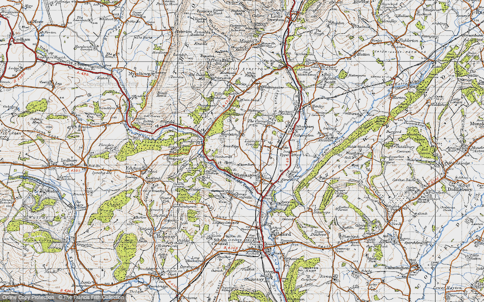 Old Map of Leamoor Common, 1947 in 1947