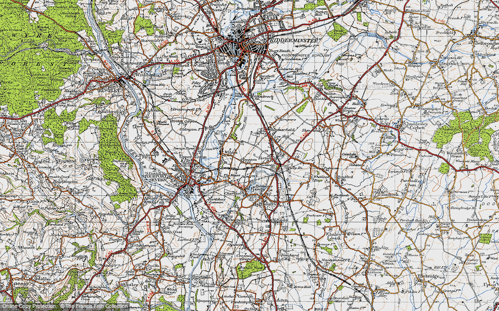 Old Map of Leapgate, 1947 in 1947
