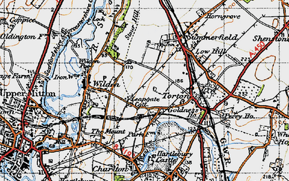 Old map of Leapgate in 1947