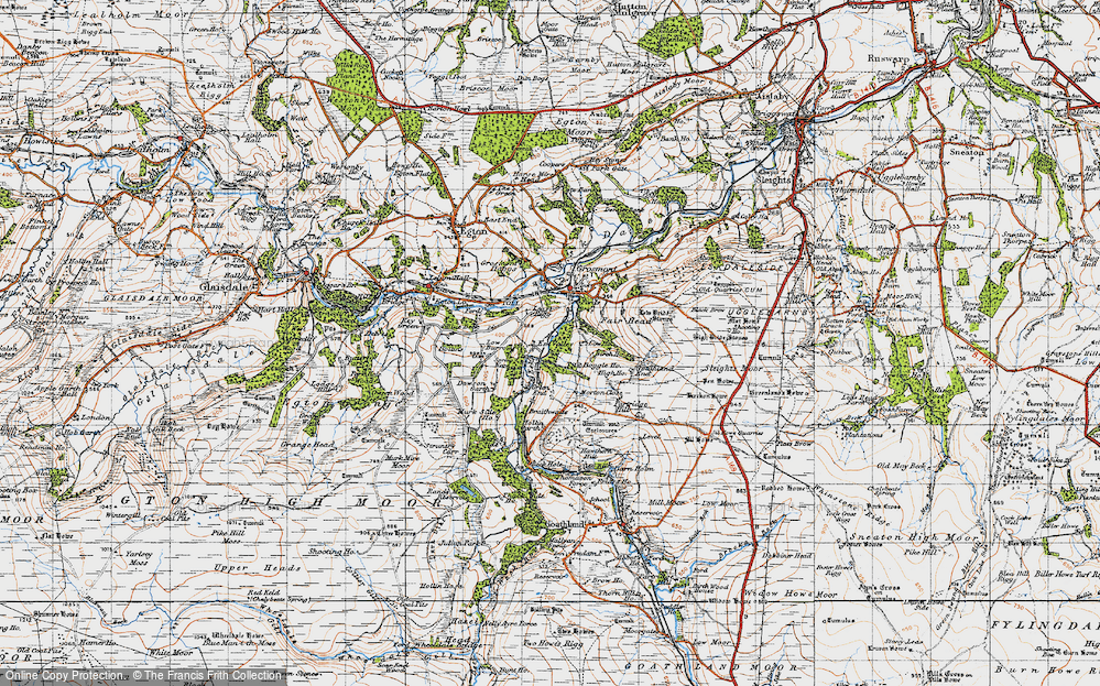 Old Map of Lease Rigg, 1947 in 1947