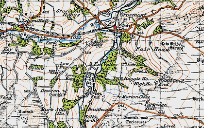 Old map of Lease Rigg in 1947