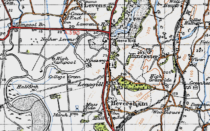 Old map of Leasgill in 1947