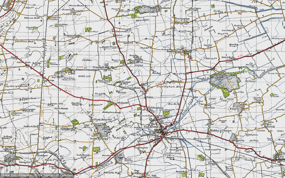 Old Map of Leasingham, 1946 in 1946