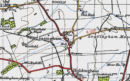 Old map of Leasingham Moor in 1946