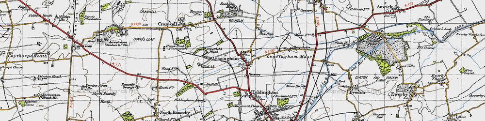 Old map of Leasingham in 1946