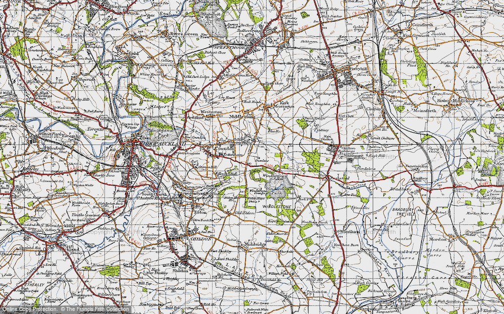 Old Map of Leasingthorne, 1947 in 1947