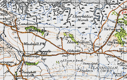 Old map of Leason in 1946