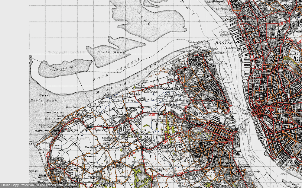 Old Map of Leasowe, 1947 in 1947