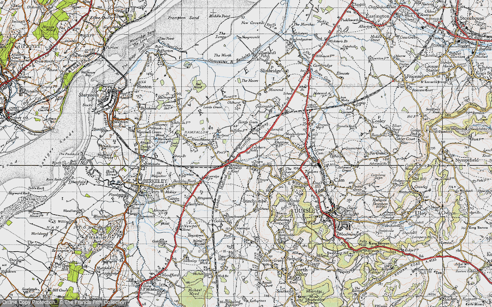Old Map of Leathern Bottle, 1946 in 1946