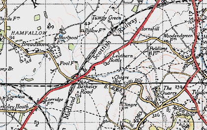 Old map of Leathern Bottle in 1946