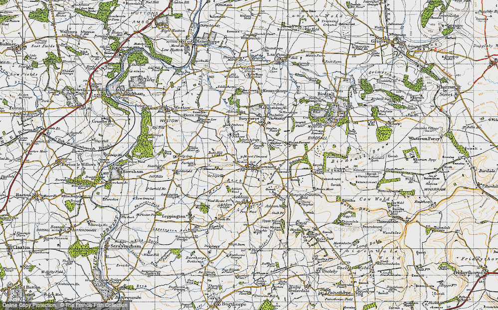 Old Map of Leavening, 1947 in 1947