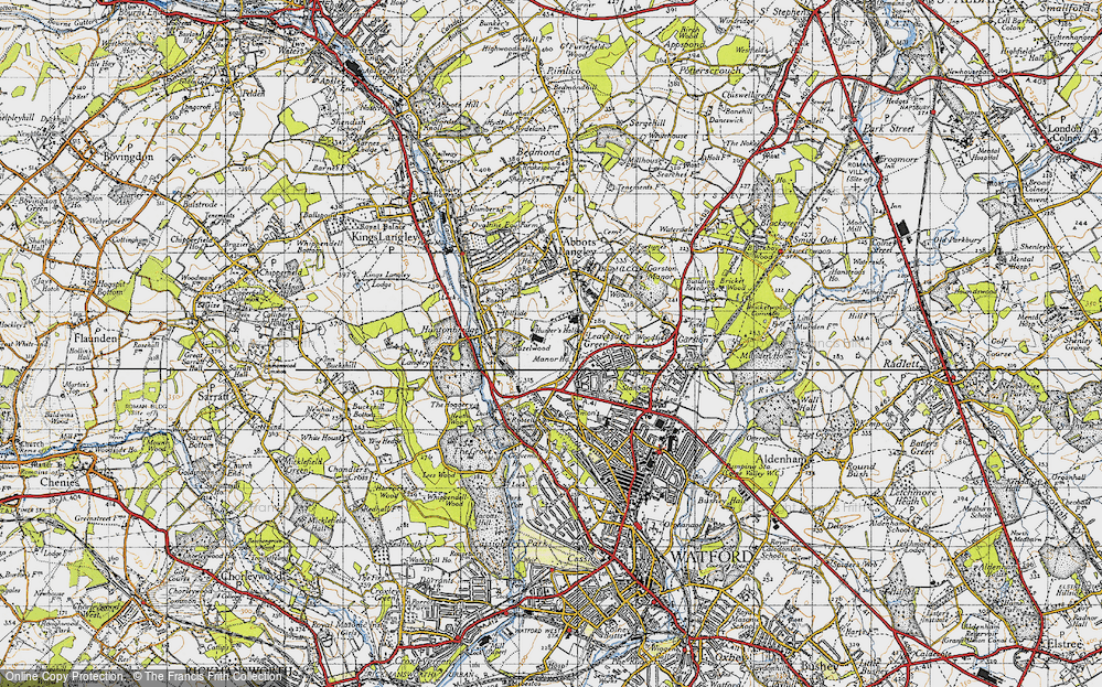 Old Map of Leavesden Green, 1946 in 1946