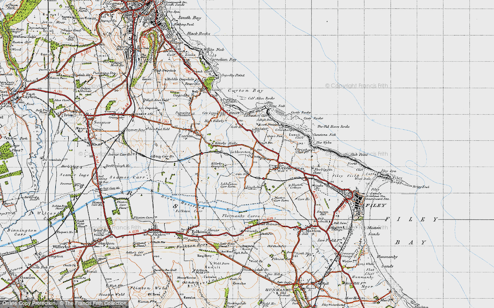 Old Map of Lebberston, 1947 in 1947