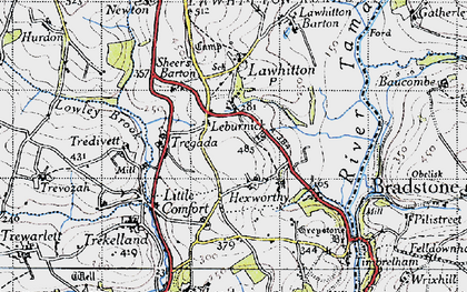 Old map of Leburnick in 1946