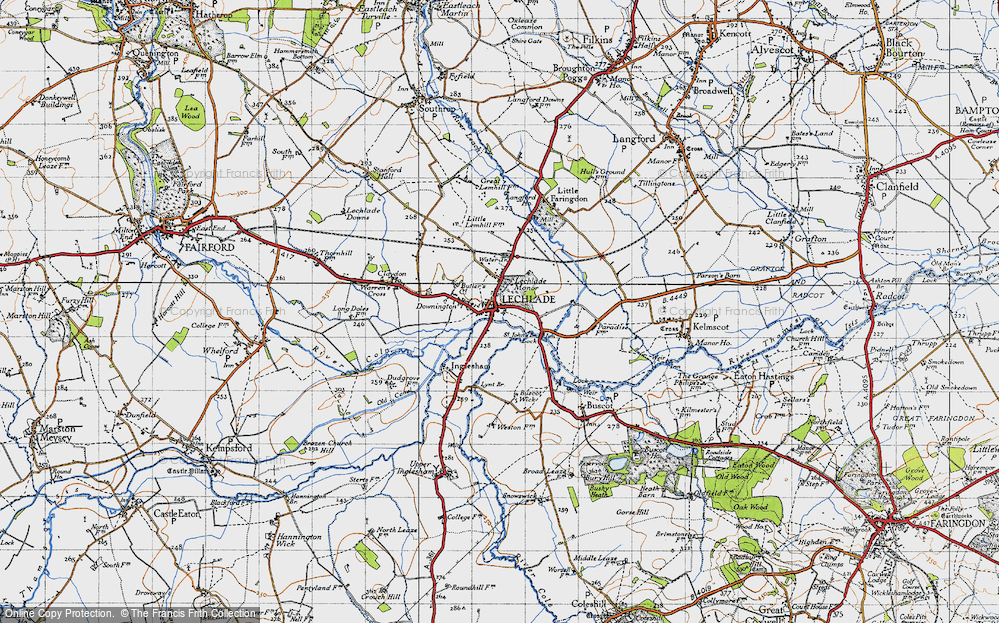 Old Map of Lechlade on Thames, 1947 in 1947