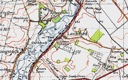 Old map of Woolbury in 1945