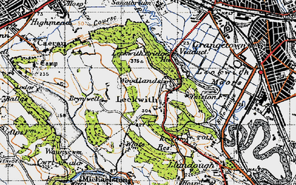 Old map of Leckwith Woods in 1947