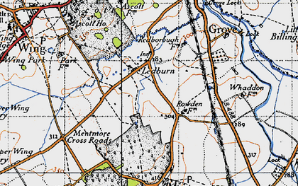 Old map of Ledburn in 1946